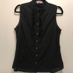 The limited black 100% cotton sleeveless top L